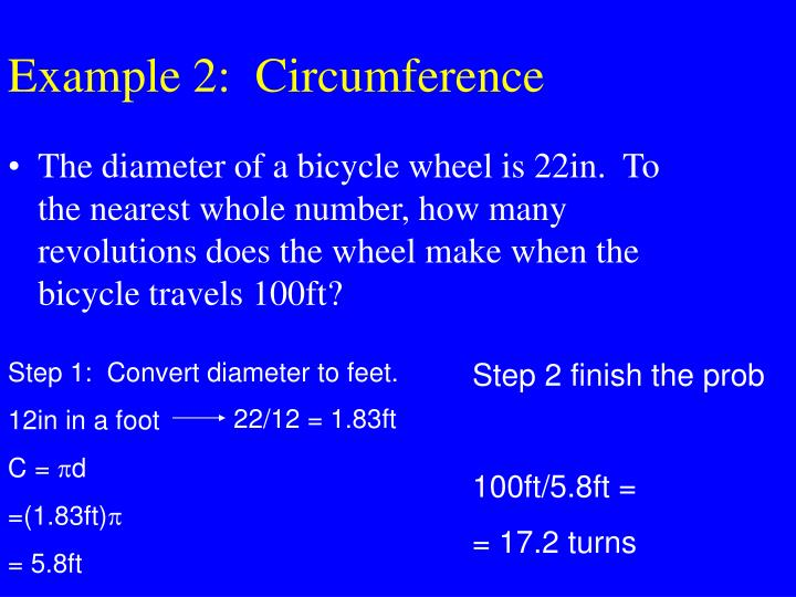 Example 2:  Circumference