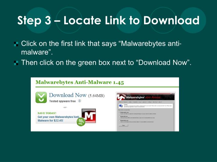 Step 3 – Locate Link to Download