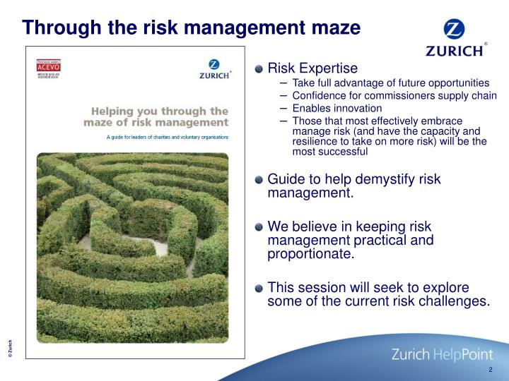 Through the risk management maze