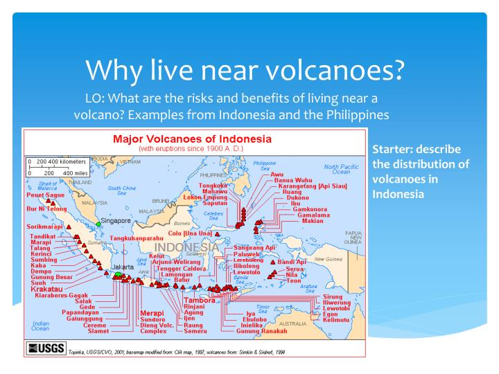 Why live near volcanoes