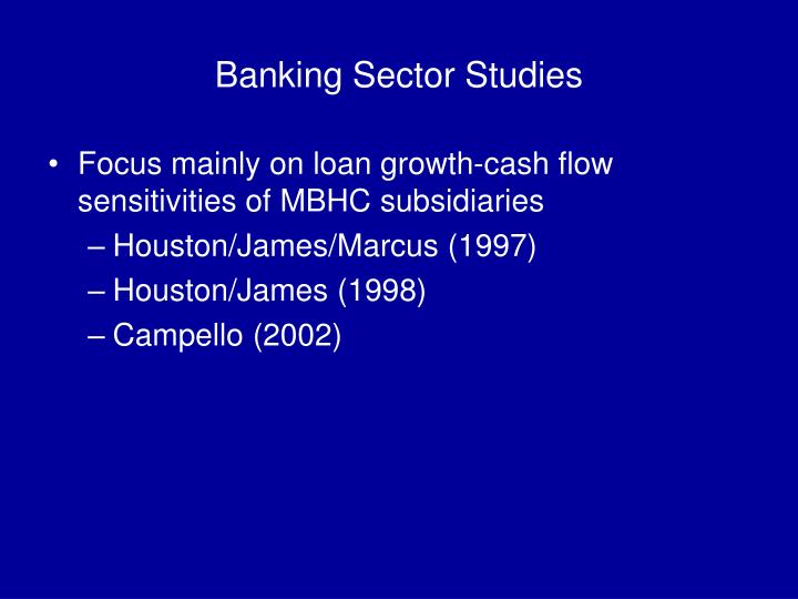 Banking Sector Studies