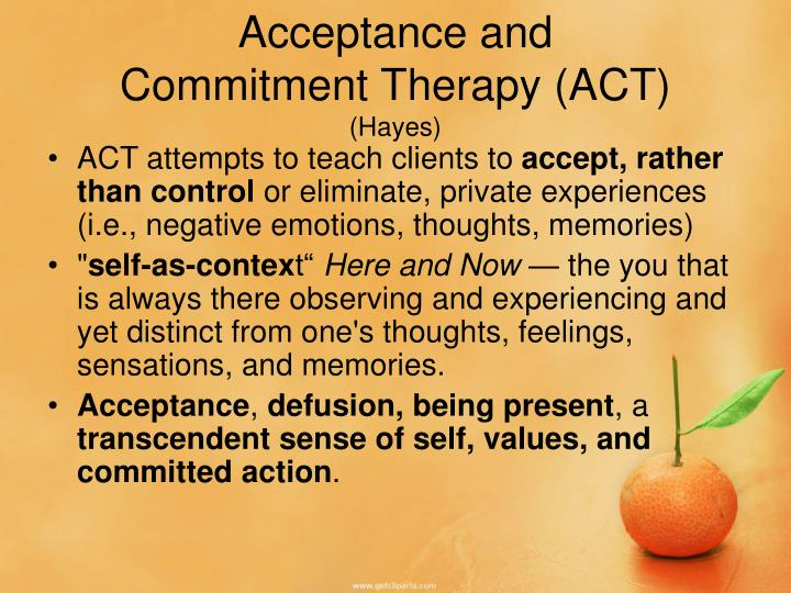Acceptance and