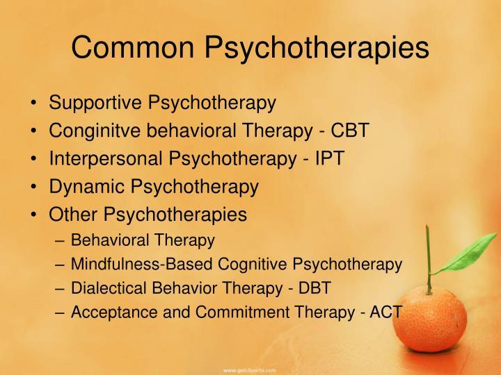 Common Psychotherapies