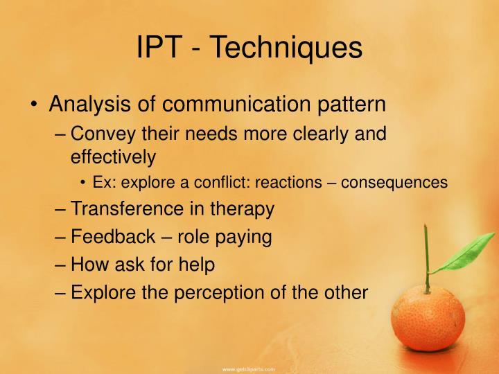 IPT - Techniques