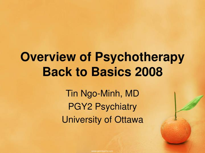Overview of Psychotherapy