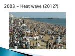 2003 heat wave 2012