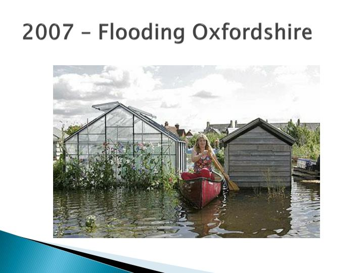 2007 – Flooding Oxfordshire