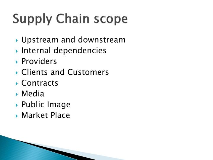 Supply Chain scope