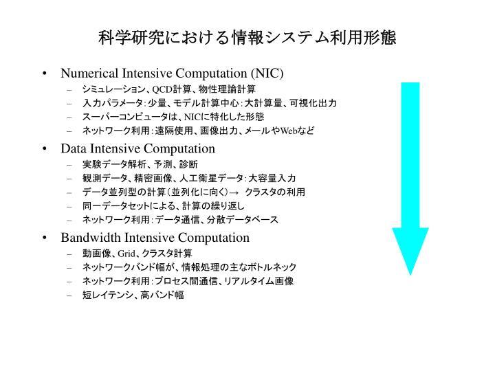 科学研究における情報システム利用形態