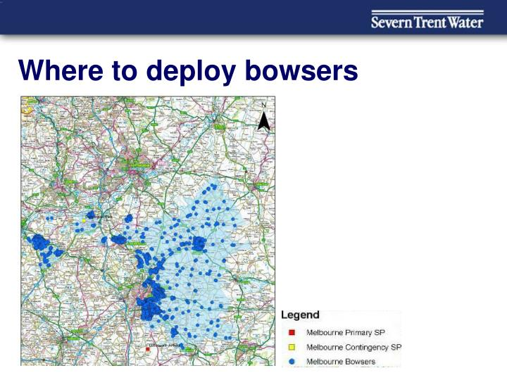 Where to deploy bowsers