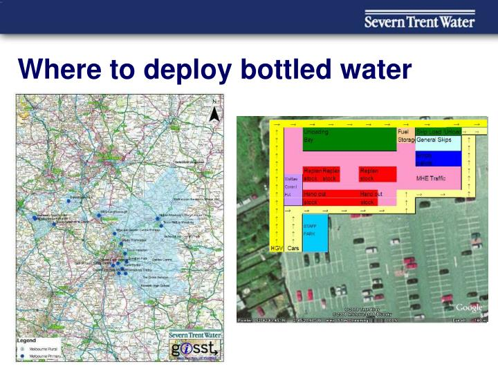 Where to deploy bottled water