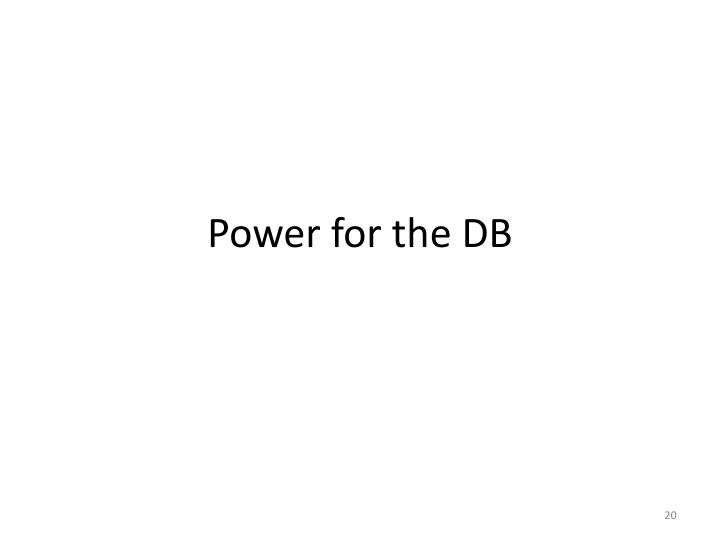 Power for the DB