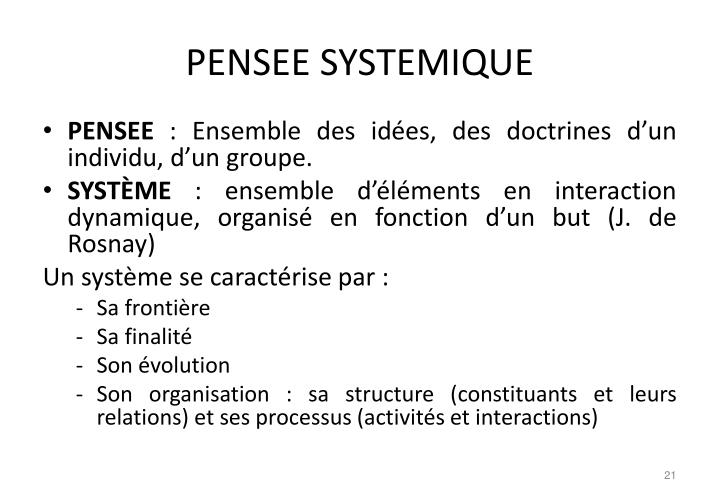PENSEE SYSTEMIQUE