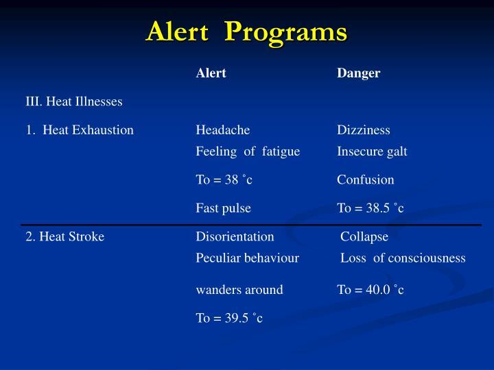 Alert  Programs