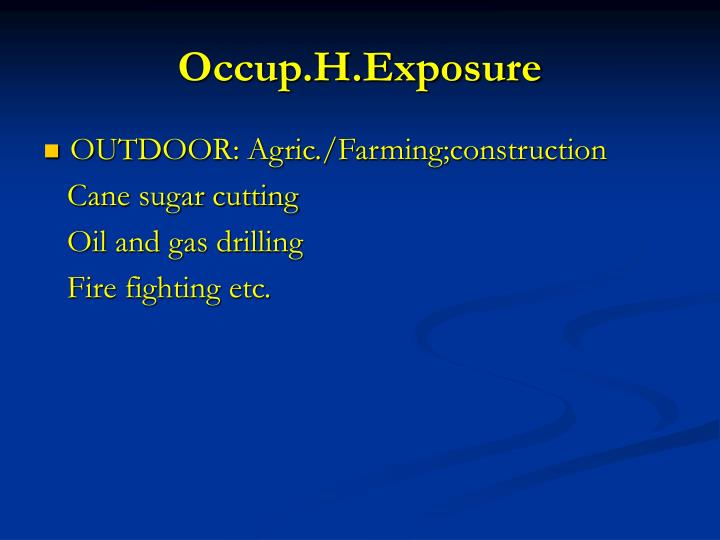 Occup.H.Exposure