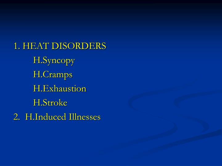 1. HEAT DISORDERS