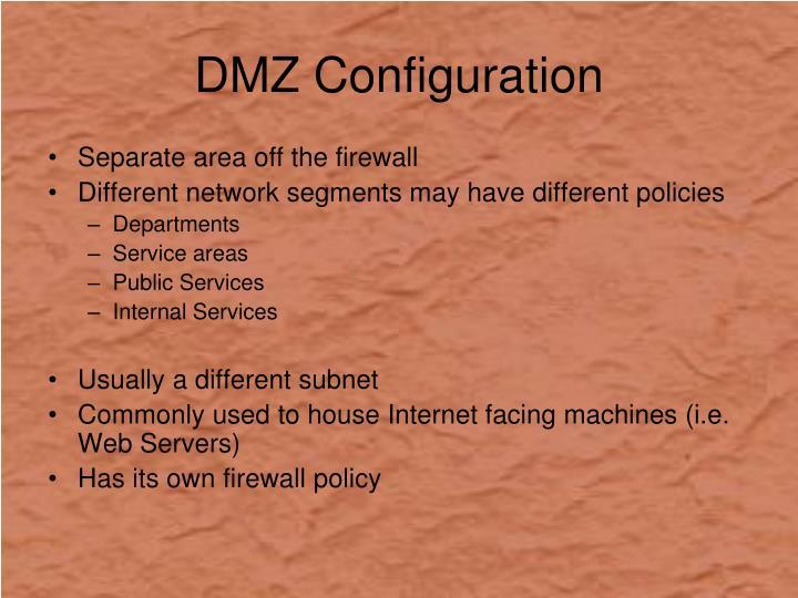 DMZ Configuration