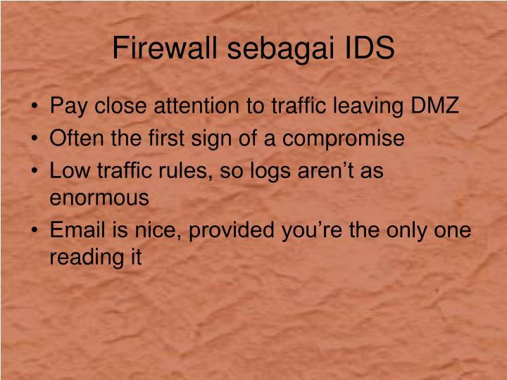 Firewall sebagai IDS