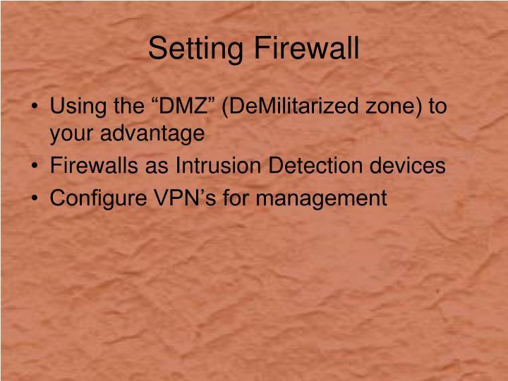 Setting Firewall