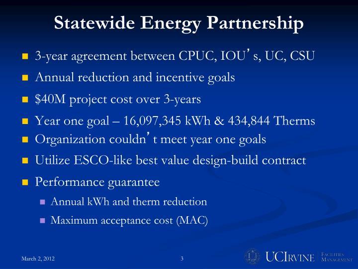 Statewide Energy Partnership