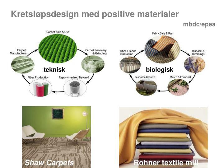Kretsløpsdesign med positive materialer