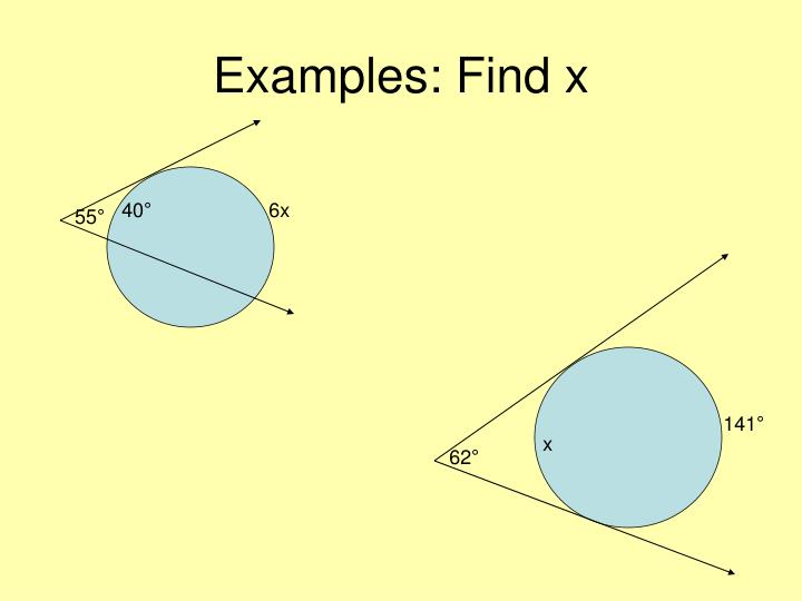 Examples: Find x
