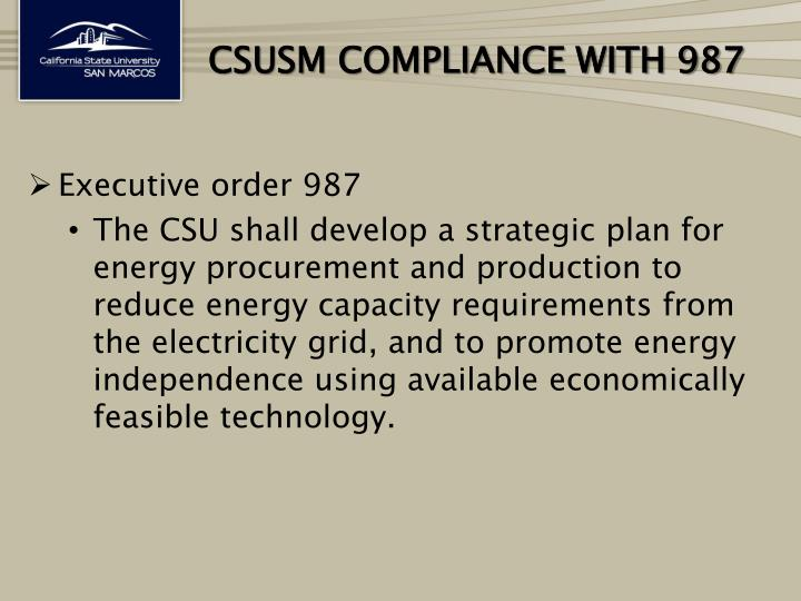 Csusm compliance with 987