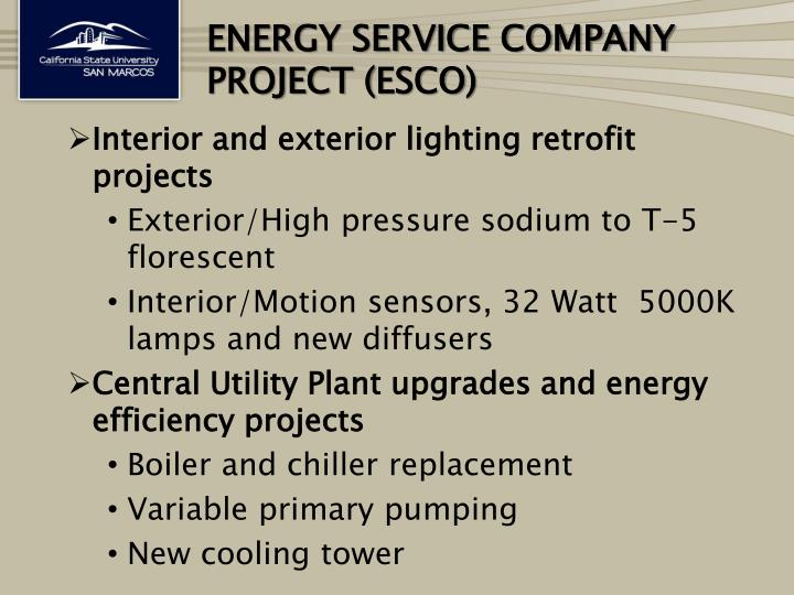 Energy Service Company project (