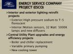 energy service company project esco