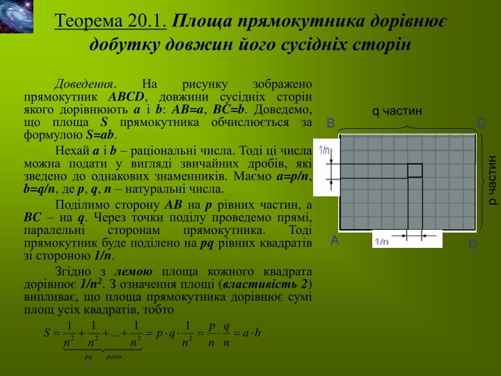 Теорема 20.1.
