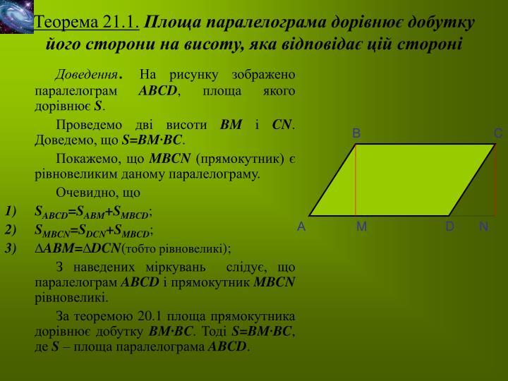 Теорема 21.1.