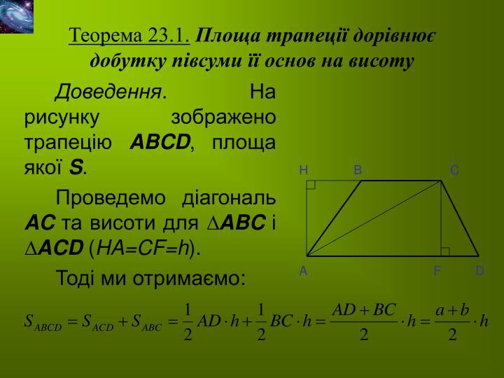 Теорема 23.1.