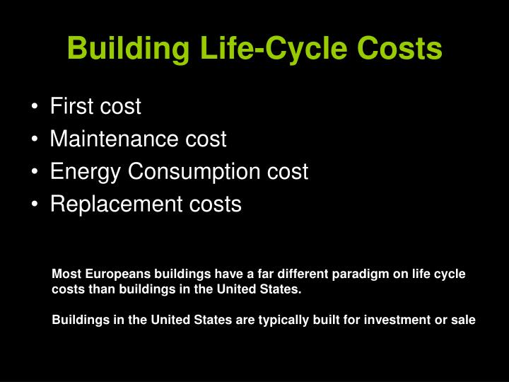 Building Life-Cycle Costs