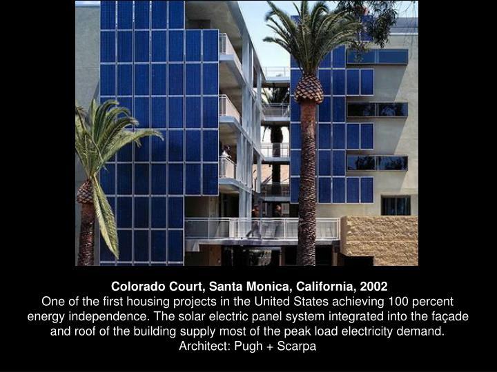 Colorado Court, Santa Monica, California, 2002