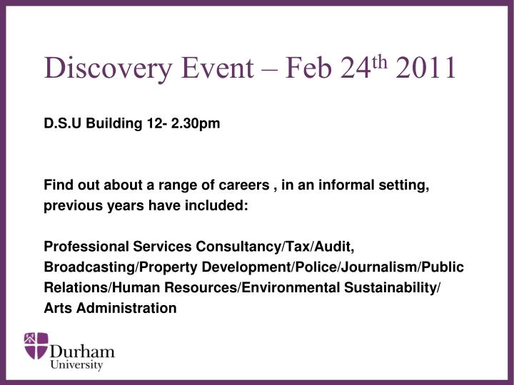 Discovery Event – Feb 24