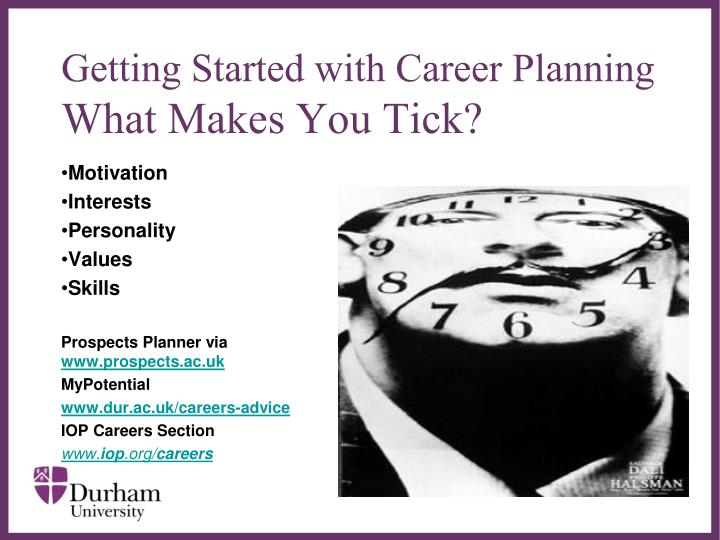 Getting started with career planning what makes you tick