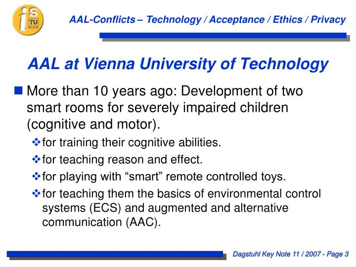 Aal at vienna university of technology