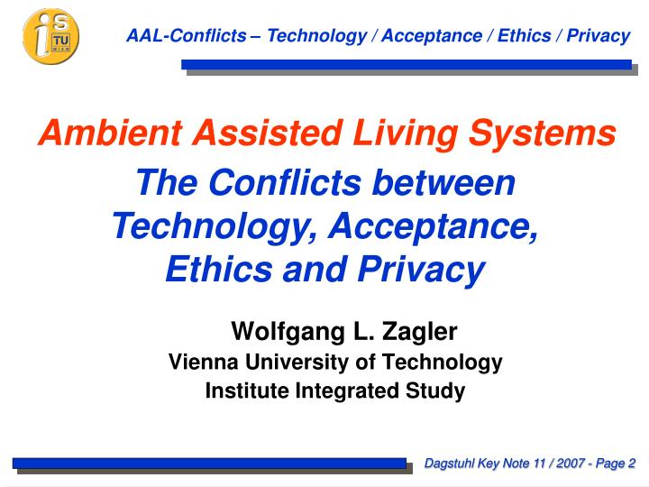 Ambient assisted living systems