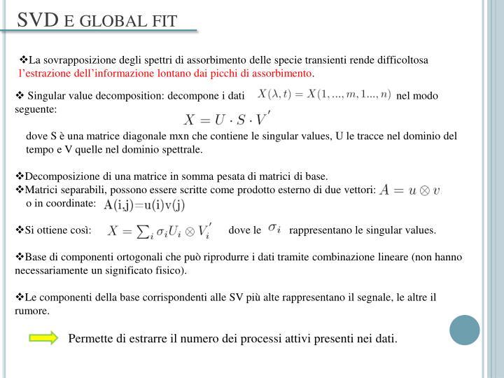 SVD e global fit