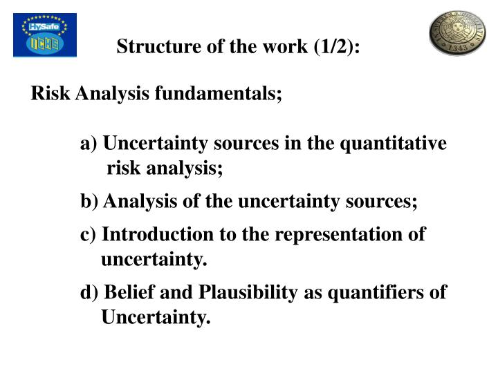 Structure of the work (1/2):