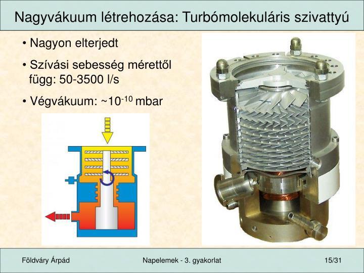 Nagyvákuum létrehozása: Turbómolekuláris szivattyú
