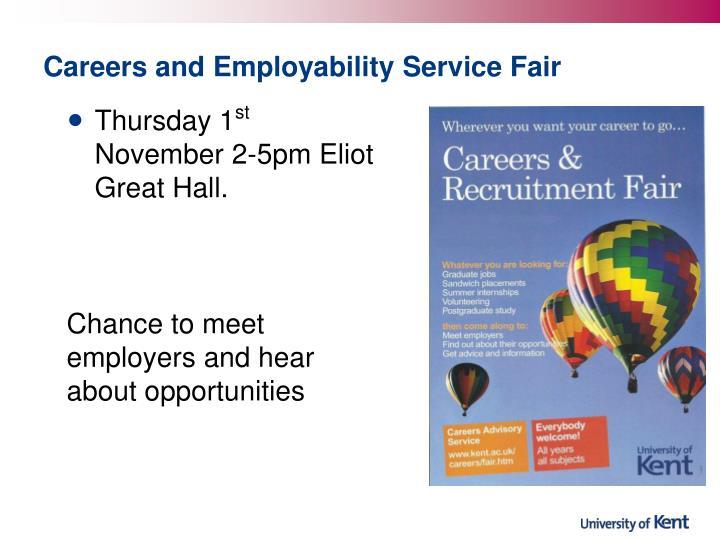 Careers and Employability Service Fair