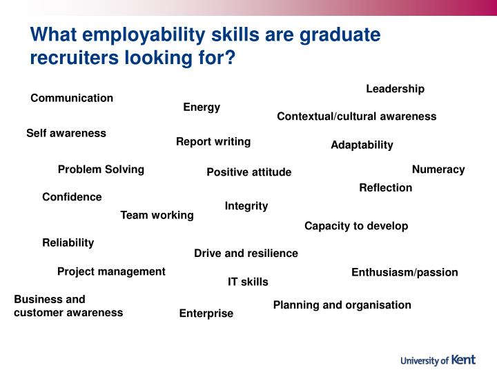What employability skills are graduate recruiters looking for?