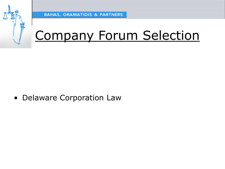 Company Forum Selection