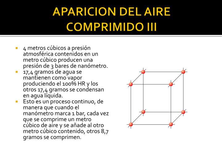 APARICION DEL AIRE COMPRIMIDO III