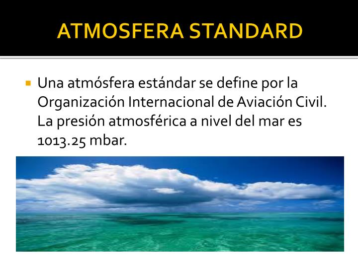 ATMOSFERA STANDARD