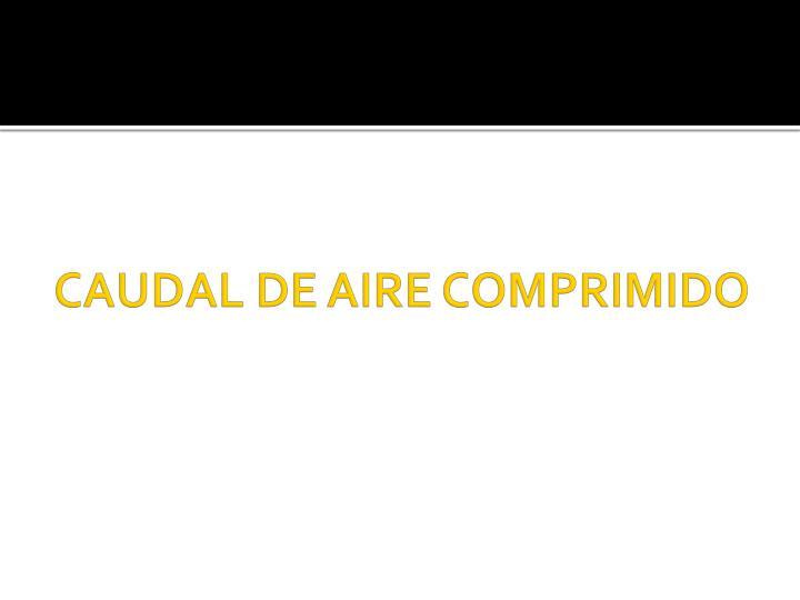 CAUDAL DE AIRE COMPRIMIDO