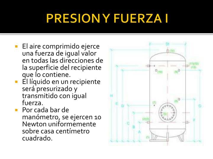 PRESION Y FUERZA I