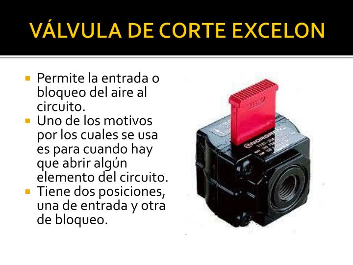 VÁLVULA DE CORTE EXCELON