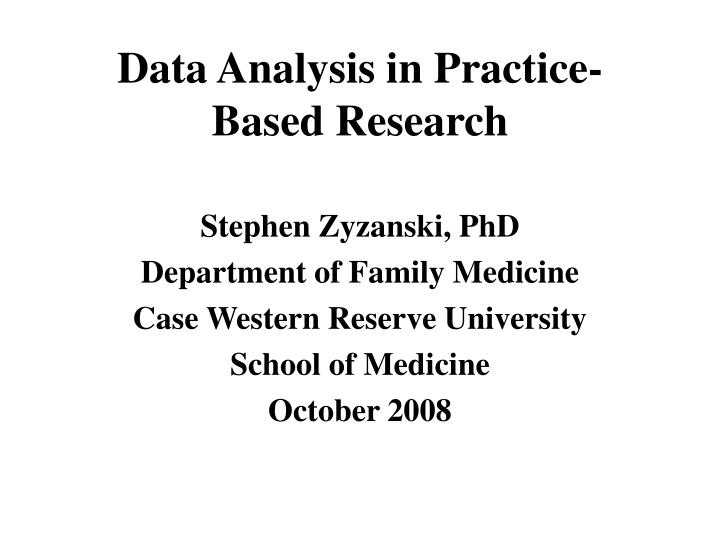 data analysis in practice based research